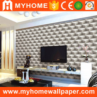 Cheap Modern Style Interior Decorative 3d Deep Embossed TV Wall Wallpaper for Home Decoration