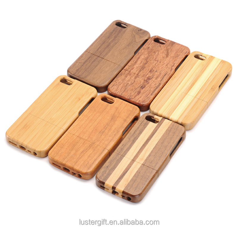 2016 New hot products Natural Real Wood blank phone Case Cover For iPhone SE 5S wood case