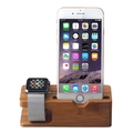 Best Selling Products Wooden Desktop for Apple Watch Charging stand, stand Charger Holder for apple watch and Iphone