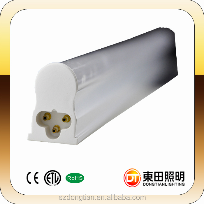 2016 DC12V t5 2ft led tube 60cm 110LM/W Ra80 warranty 3 years