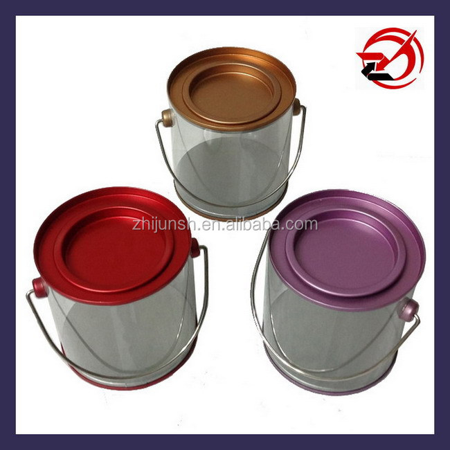 PVC tin cans with handle