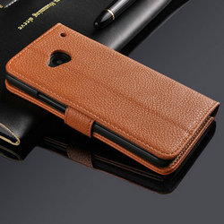 wholesale hot selling mobile phone cover PU Leather Mobile Phone Leather Case Cover for HTC One M7