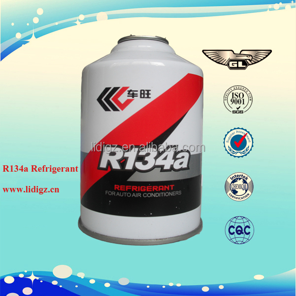Disposable cylinder refrigerant gas r134