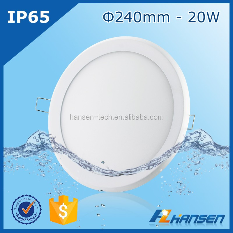 paypal waterproof led downlight housing 20w IP44 downlight mobile home ceiling panel