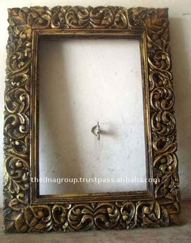Hand carved decorative wood mirror frame buy hand carved for Wooden mirror frames for crafts