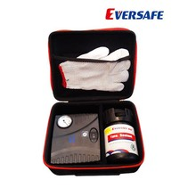 Eversafe 1-step flat tire repair system ,tire sealant repair kit with 12 volt inflator