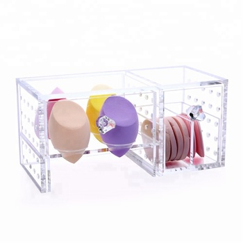 Acrylic Holder Clear Makeup Cotton Pad Storage Box