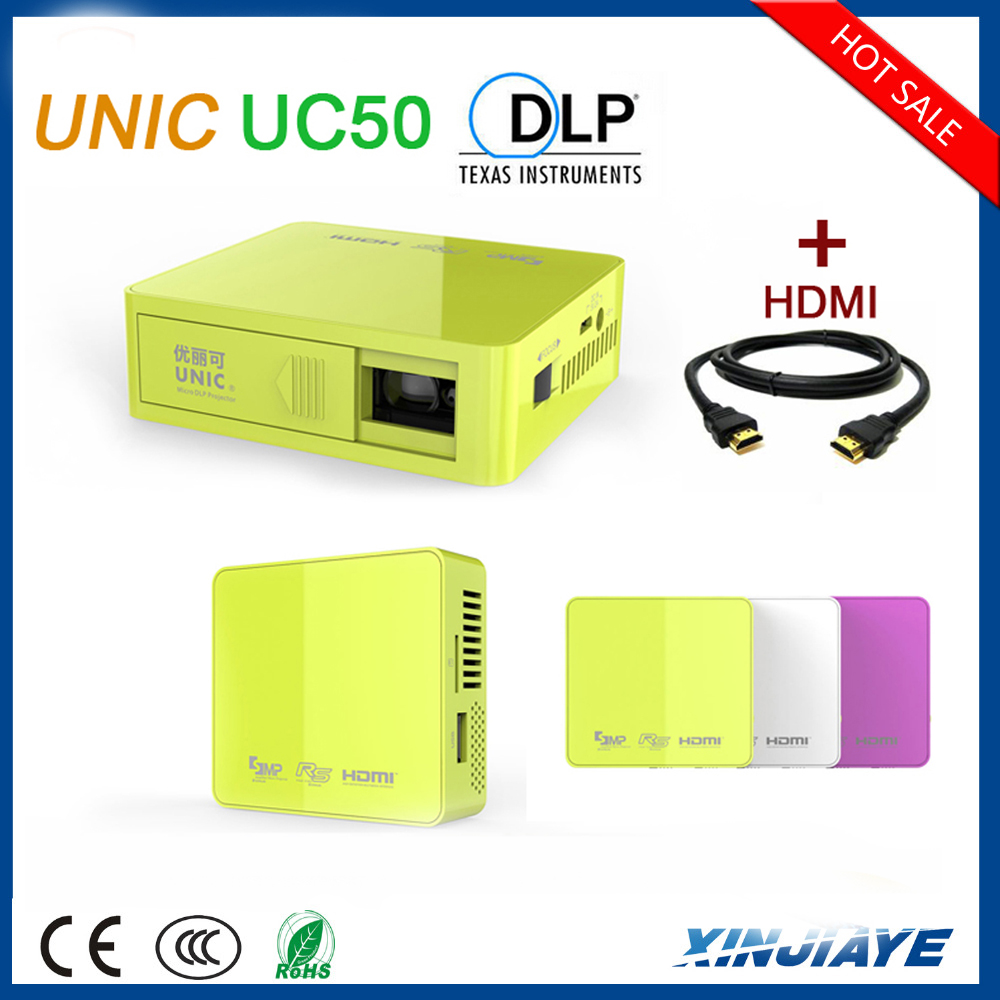 2015 Newest 854*480 DLP mini projector UNIC UC50 with CE ROHS FCC BIS