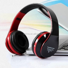 D480 FM Radio MP3 Player Bluetooth LED Headphone Shenzhen Factory Stereo Headset With TF Card Slot