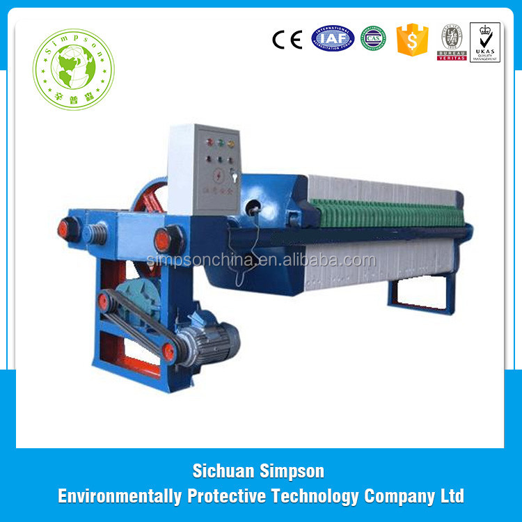 High pressure 62 chambers Automatic Stainless steel filter press machine, press filter from china