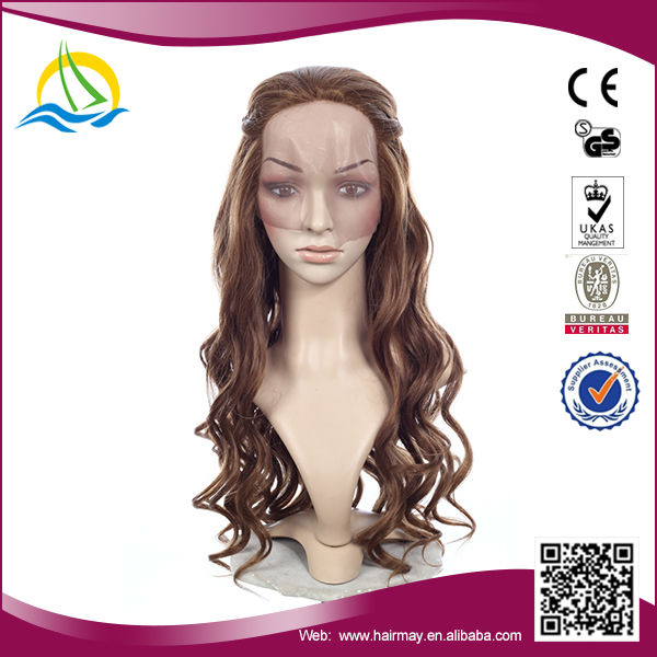 Quality guaranteed High Temperature Fiber realistic hairline lace wig