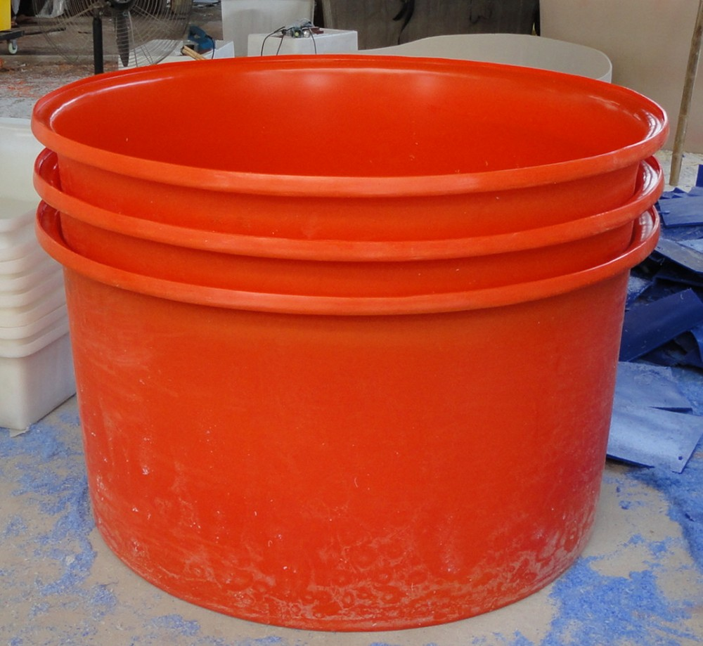 Polyethylene fish farm plastic fish tank round fish tank for Plastic fish tank