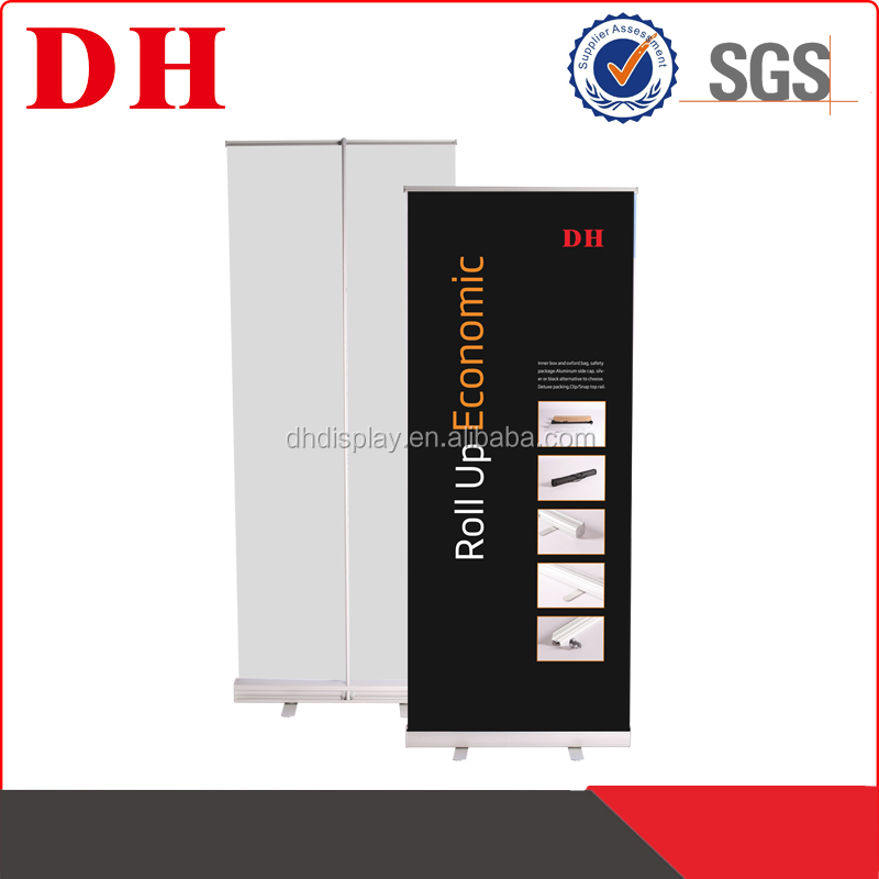aluminum frame,pvc picture Material aluminum roll up banner stand with standing pole
