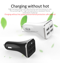 Factory price fast charging portable 5V 3A 4 usb ports car charger