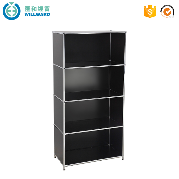 Steel 4 tier metal filling cabinet, office modem storage cabinet steel