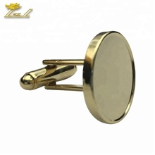 Custom Metal Gold Blank Cuff link