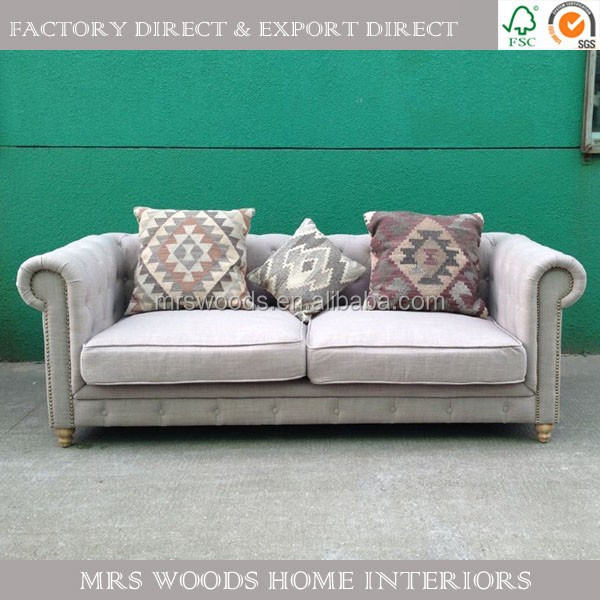 french style home furniture fabric upholstered chesterfield sofa malaysia