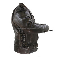 VINTAGE MOTORCYCLE LEATHER JACKET/BIKER MOTORCYCLE LEATHER JACKET