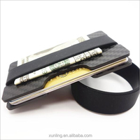 Beauty carbon fiber credit card holder carbon Fiber Wallet money clip money cardholder