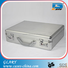 GL-S132 Silver and with real aluminum panel aluminum briefcase