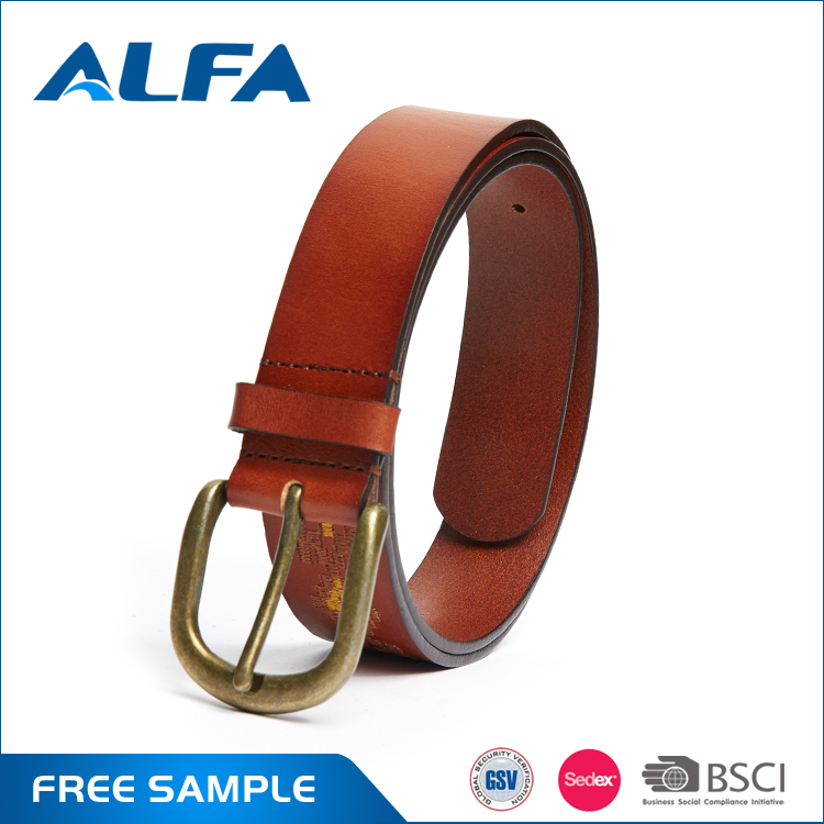 Alfa 2017 New Products Ethnic Pure Genuine Leather Woman Handmade Leather Belts