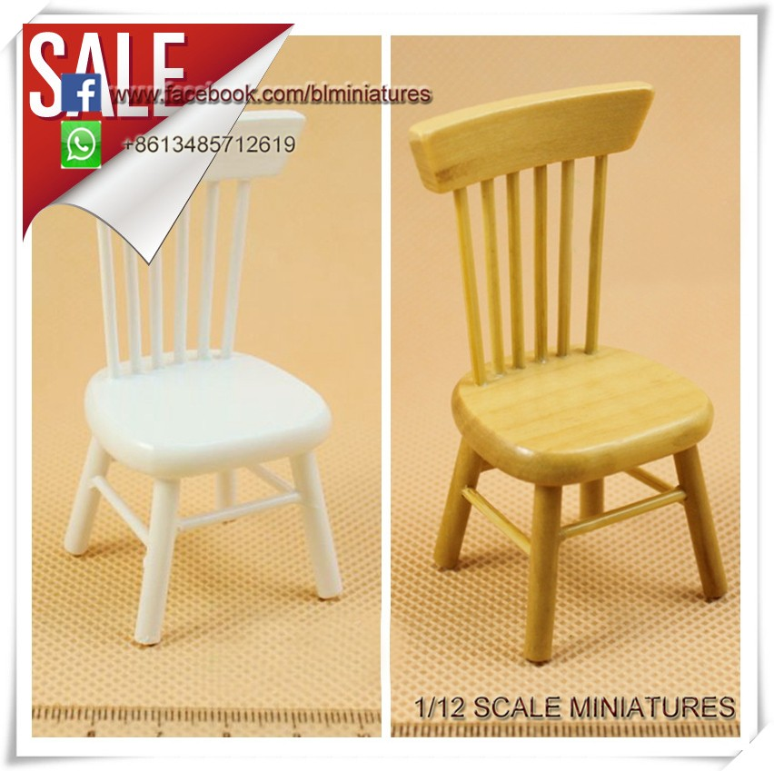 1:12 Scale Dollhouse Wooden Dining Chair Miniature Furniture For Sale