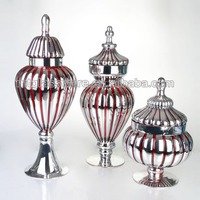 yes handblown glass apothecary jar with glass cover