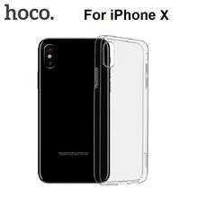 2017 New Hoco Thin Clear Transparent Black Soft TPU Back Cover Case For iPhone X 8 7 6 6S 5 5S Se Plus