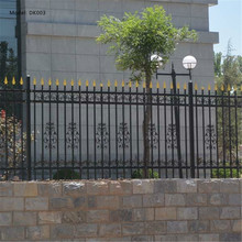Professional manufacturer supply high quality outdoor steel picket wrought iron fence