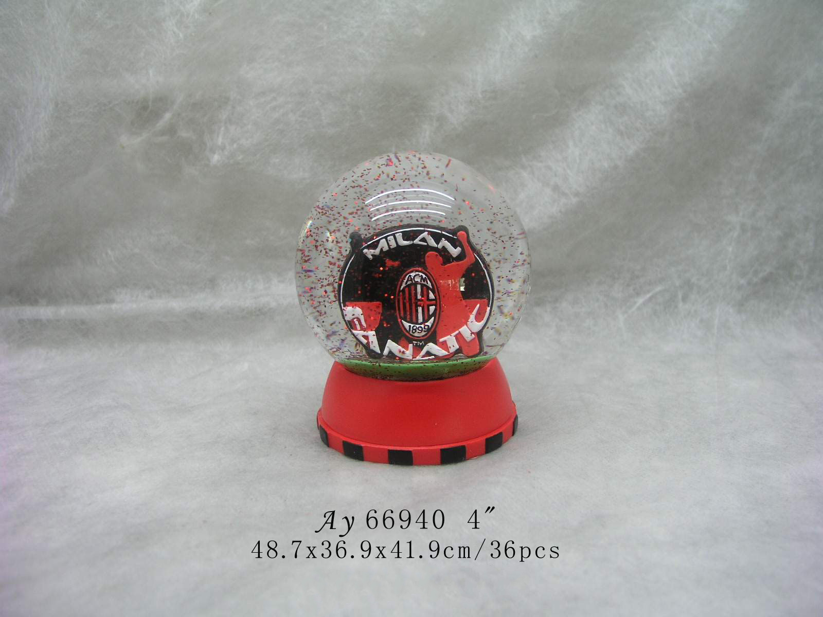80MM Ballet glass snow globe for custom water ball