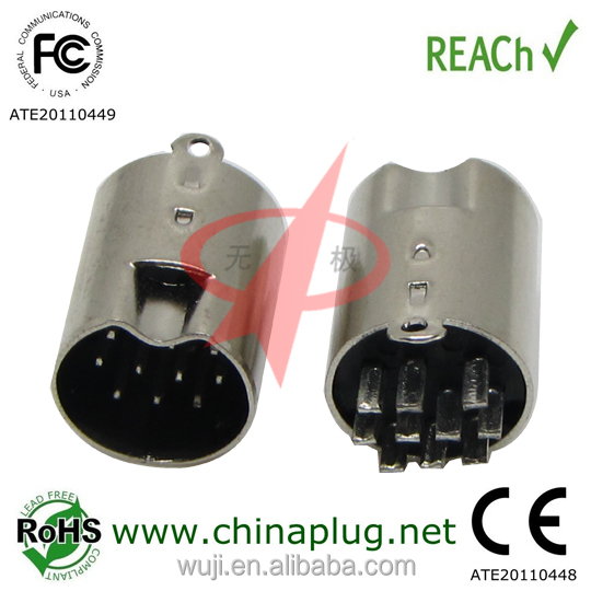 Alibaba china <strong>10</strong> pin mini din male connector