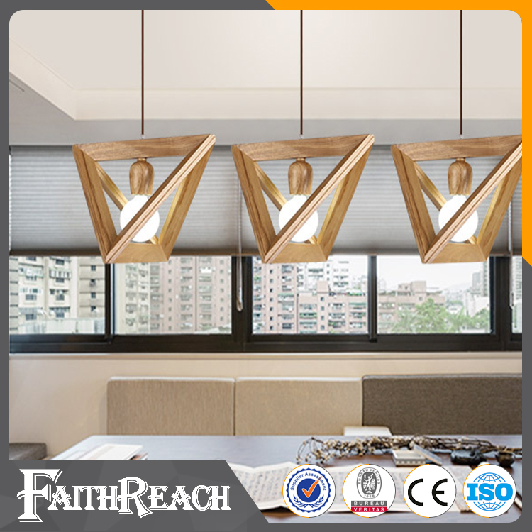 New Wood Pendant Light Modern Ceiling Fixture Kitchen Chandelier Indoor Lighting