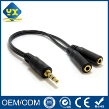 audio video cable Dual 3.5mm Female to 3.5mm Male Splitter Cable