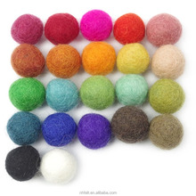 Mixed Colour Wool Pom Gumball Beads Craft Decoration 20mm Diy Christmas Decor Wool Felt Balls