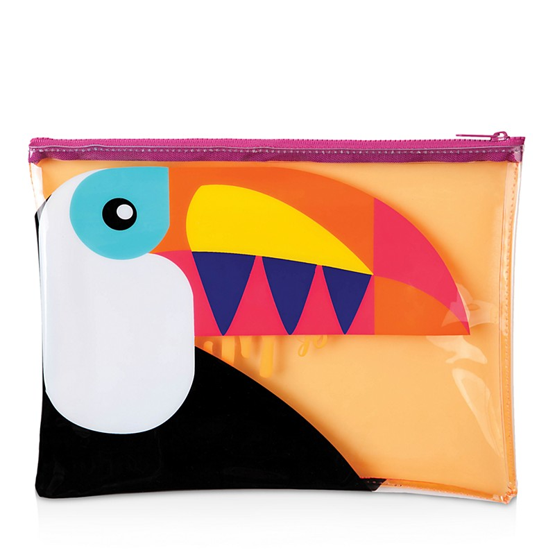 Good Quality PU with Flamingo pictures cosmetic bags