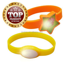 Custom party favor colourful flashing light led silicone wristband
