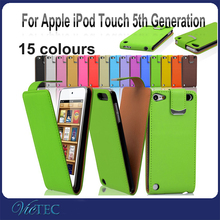 Up and down for ipod touch 5th generation pu leather case