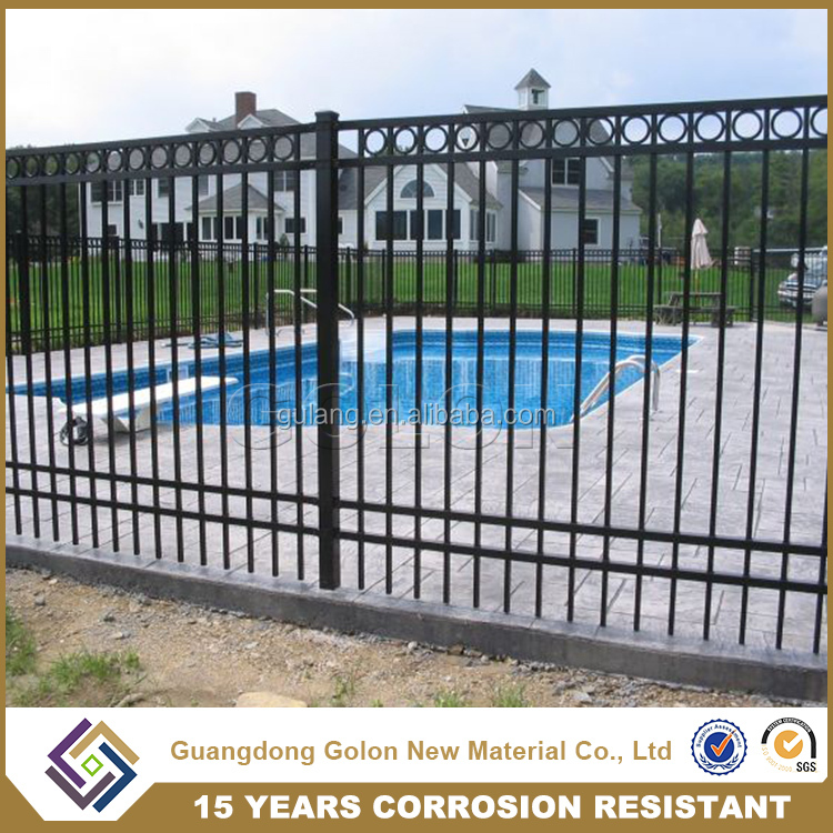 Factory Direct Sell used wrought iron fence panels, pool fence