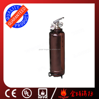 2KG Portable Mono-ammonium phosphate Chemical 40% Fire Extinguisher with Coffee plated for Vehicle Using with CE Stardard