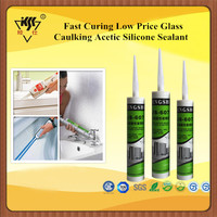 Fast Curing Low Price Glass Caulking Acetic Silicone Sealant