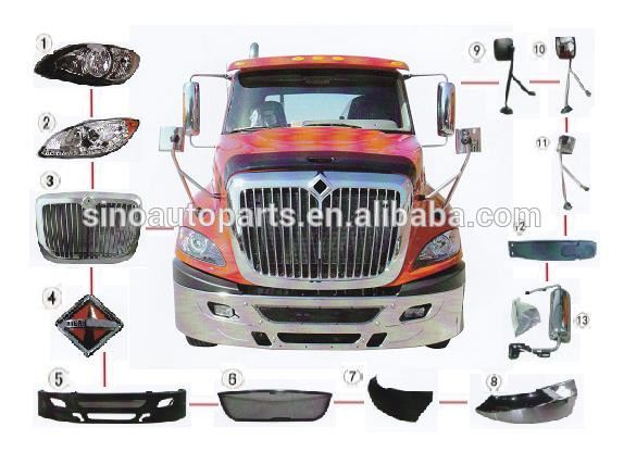 FIT AMERICA INTERNATIONAL PROSTAR Truck Headlight DOOR MIRROR Bumper Grille