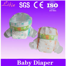 Comfortable Disposable Baby Diaper With Print Back Sheet