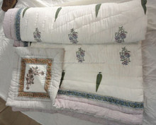 Jaipuri Printed Quilts Hand Block Print Cotton Designer kantha Quilts Rajai Manufactures In India