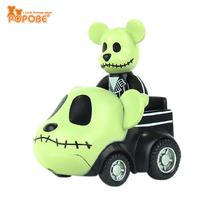 Popular POPOBE 2 Inches OEM Small Plastic Wheels Rotatable Promotional Toy Car