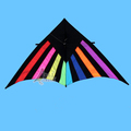 2.6m rainbow delta shape kite for adults