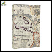 300 Slip in 4x6 leather photo album with map pattern(50pcs white PP pockets)