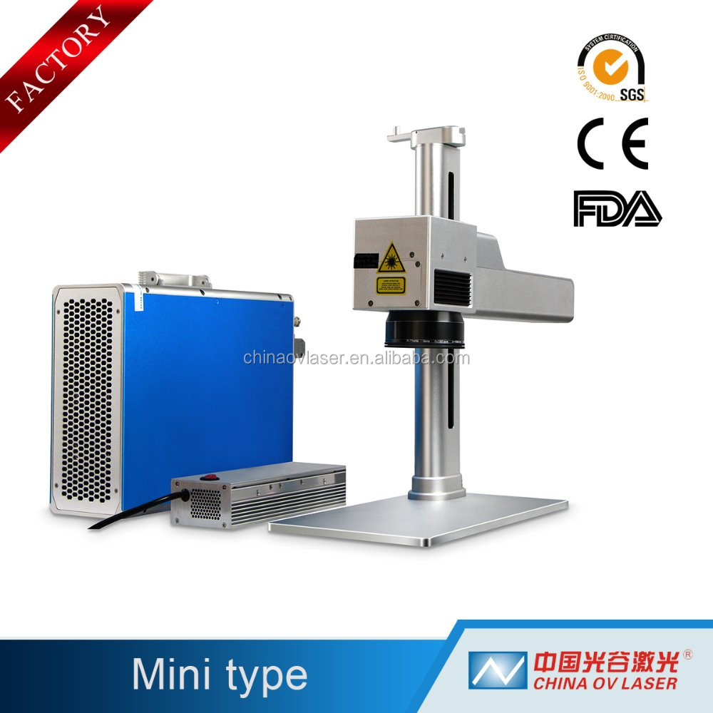 20w jewelry fiber metal ring fiber laser source metal plate printing marking machine