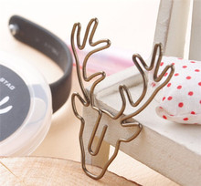 Metal wire animal shape bookmark paper clips office stationery supply bookmark
