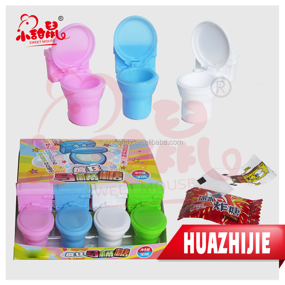 598201610Funny Closestool Candy Toilet Bowl Candy Toy