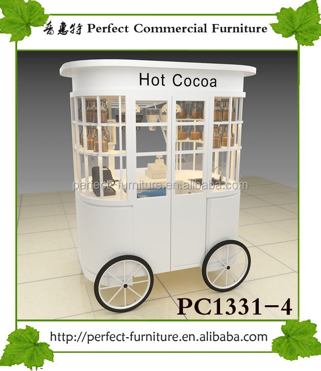 wood bar ice cream cart hot dog carts food cart coffee trolley for sale
